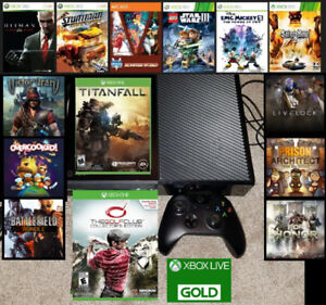 XBOX One 500gb bundle with games and LIVE Trade for PS4 bundle