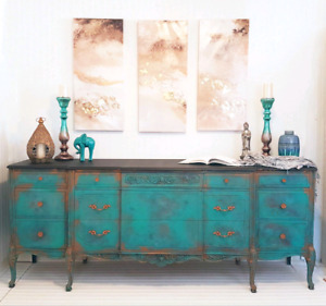 Exquisitely Shabby Vintage Sideboard