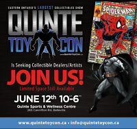 Want to be a Dealer/Artist at Quinte ToyCon?