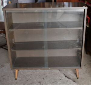 Retro Sliding Glass Doors Cabinet