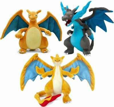 Pokemon Center Mega Charizard X&Y Plush Doll Dragon Stuffed Animal Toy Xmas Gift