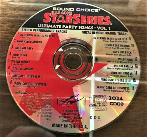 SOUND CHOICE KARAOKE STAR SERIES CD+G - 2024- PARTY HITS VOL 1 - CDG