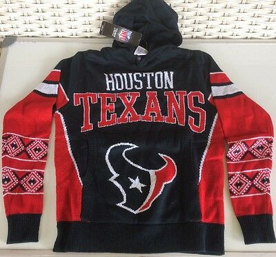 New Youth Houston Texans Nfl Com Team Apparel Sweater Hoodie Swearshirt