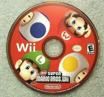 NEW SUPER MARIO BROS. NINTENDO Wii WiiU GAME DISC ONLY FAMILY FUN YOSHI LUIGI