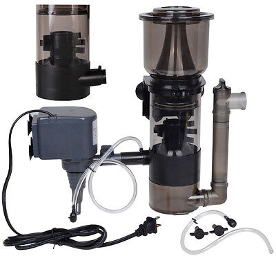 150 Gal Aquarium Protein Skimmer w/ 530GPH Pump Filter Powerhead Tank Salt Water