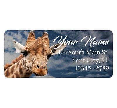 Animals Address Labels (Giraffe Address Labels Cute Giraffe Africa Giraffes Animals 60)