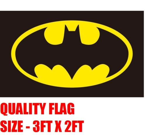 QUALITY FLAG 3FT X 2FT BATMAN HEROES ROBIN BATCAVE MANCAVE SUPERMAN CAPTAIN AMER
