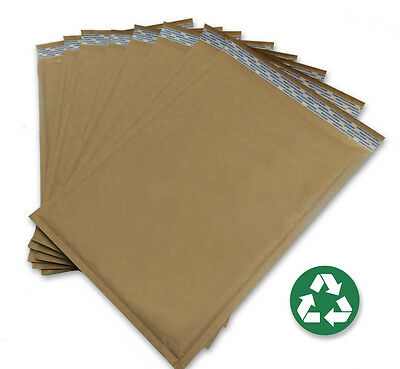 Size 5 10.5x15 Recycled Natural Brown Kraft Bubble Mailer 100 Ct Usa Made