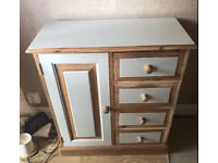 Quality Solid Pine Vintage Anne Sloan Painted Wooden Cabinet 4 Drawer Hallway Living Dining Bedroom