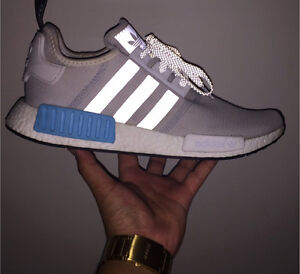 Adidas NMD R1 White/White/Blue Redbank Plains Ipswich City Preview