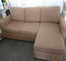 Multiway corner sofa in nude/beige
