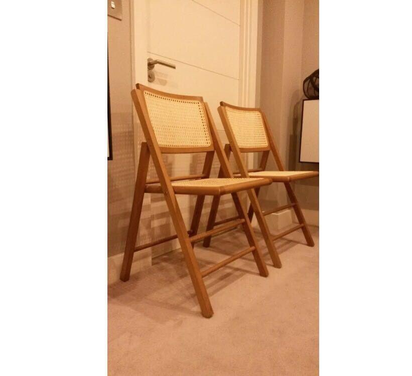 Rattan Folding Chairs | In Hammersmith, London | Gumtree
