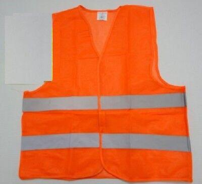 Brand New Orange Reflective Safety Vest Fireman Police Rescue 1st Responders