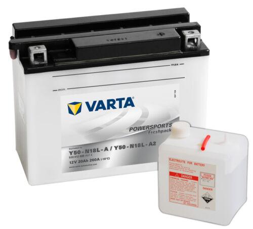 VARTA Y50-N18L-A 12V 20Ah Motorradbatterie Powersports 12 Volt 20 Ah OVP NEU