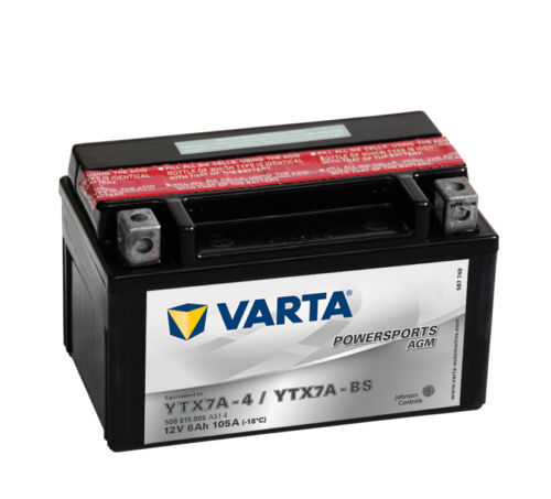 VARTA AGM Motorrad & Roller Batterie 12V 6 Ah ETN 506015005 6Ah YTX7A-BS NEU