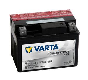 VARTA POWERSPORTS 3 Ah AGM Motorrad & Roller Batterie 12V 3Ah GTX4L-BS OVP