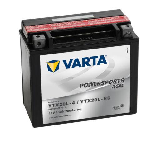 VARTA 12V 18 Ah YTX20L-BS AGM Motorradbatterie 18Ah Powersports  OVP NEU