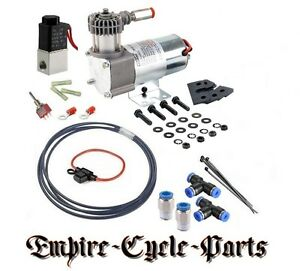 MOTORCYCLE AIR RIDE COMPRESSOR KIT HARLEY BAGGER SOFTAIL DYNA