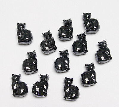 25 Black Cats shaped pony beads made n USA Halloween crafts jewelry costume kids (Childrens Black Cat Halloween Costume)