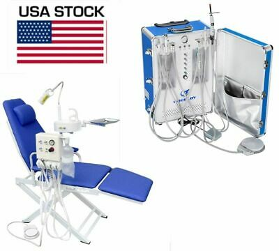 Portable Dental Unit Mobile Treatment System With Dental Chair 4 Hole Us Stock