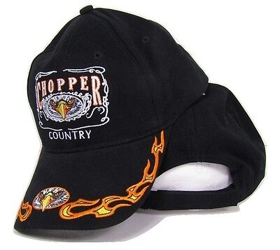 Chopper Country Motorcycles USA Eagle Flames Biker Baseball Cap Hat (RAM)