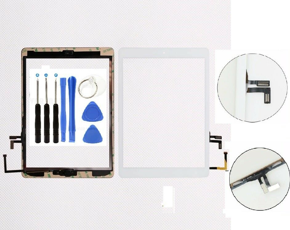 Screen Glass Digitizer replacement for iPad Air White a1474 a1475 a1476 Computers/Tablets & Networking