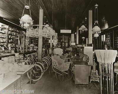 Old Time Hardware Store Wood Stoves Birdcages Buggys Brooms Vintage Bicycles WOW