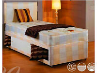 """** Free & Fast Delivery ** Single Divan Bed With 9"""" DQ Mattress"""