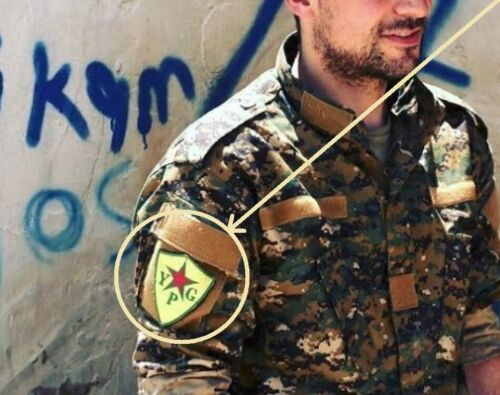 Syria Iraq Anti-Isis کورد PESHMERGA Fighter DAESH WHICKER vêlkrö INSIGNIA: YPG