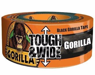 Gorilla Tough & Wide Klebeband Schwarz 73mm X 27M Stark Tuch Ente Gaffer Gaffa (Klebeband Ente)