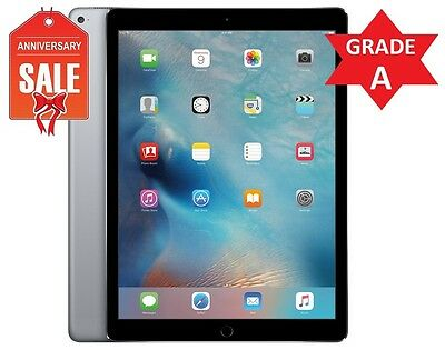 Apple iPad Pro 128GB, Wi-Fi + Cellular (Unlocked), 9.7in Space Gray -GRADE A