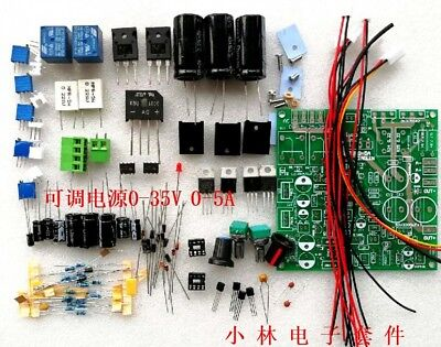 New Continuously Adjustable Dc-dc Regulated Power Supply Diy Kit 0-35v 0-5a