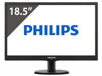 "Philips 18.5"" LED Monitor Brand New in box rrp £89 save 50%"