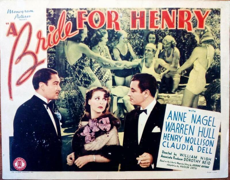 UNIVERSAL HORROR STARLET ANNE NAGEL IS A BRIDE FOR HENRY ORIG MONOGRAM SPANKING