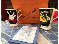 CLARICE CLIFF'S AGE OF JAZZ SET OF 2 ART DECO MUGS BRADFORD EDITION