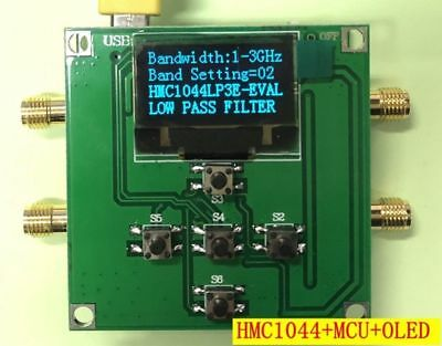 Hmc1044lp3e Programmable Harmonic Low Pass Filter Module 1-3ghz Stc Control Brd