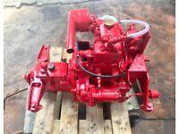 Rare classic vintage Lister Petter Mini 6 boat diesel engine + SOM gearbox marine