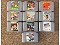 Nintendo 64 games console and games