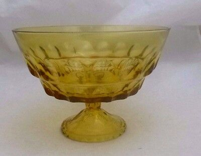 Amber, Thumb Print, Footed Compote. Fruit Bowl. Candy Dish, 7 Layer Dip Bowl