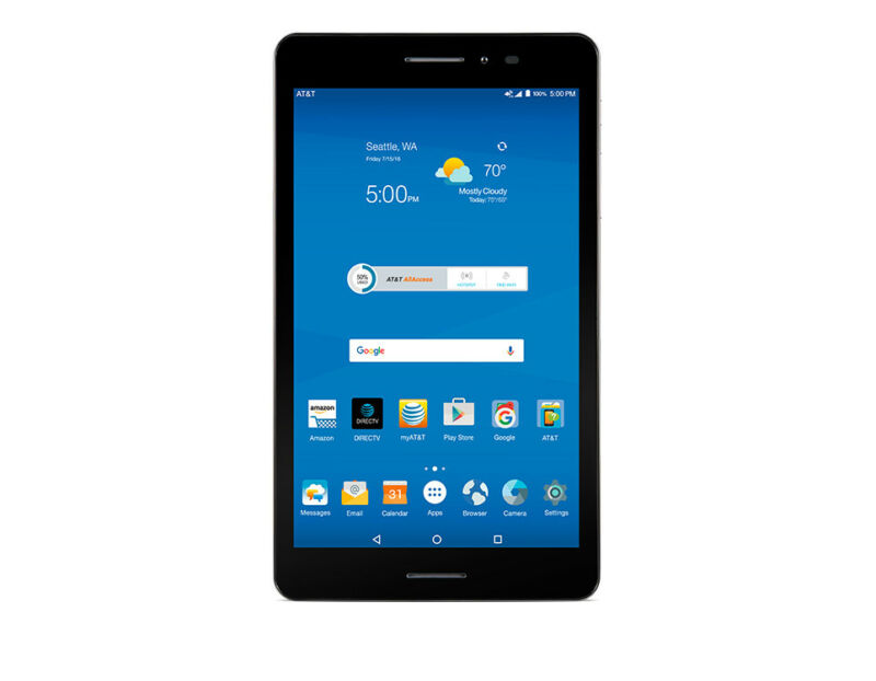 """ZTE Trek 2 HD K88 Wi-Fi GSM AT&T Unlocked 8"""" Android Tablet Gray 5MP - NW"""