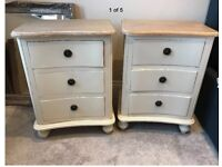 Shabby Chic Beside Tables x 2!