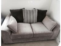 2 seater and footstool