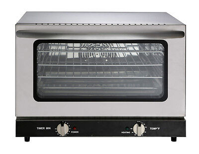 Heavy Duty Half Size Countertop Convection Oven 1.5 Cu. Ft. - 120v 1600w Etl