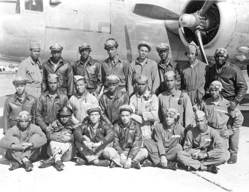 Tuskegee Airmen-Class of 1945- Elite African American U.S. Army Air Force Photo