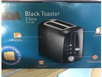2 Slice Long Slot Toaster - Black