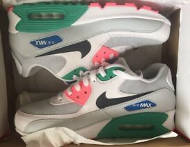 new concept ad266 52726 GENUINE BRAND NEW WITH BOX MENS SIZE 9 NIKE AIR MAX 90 TRAINERS SHOES  WATERMELON AJ1285