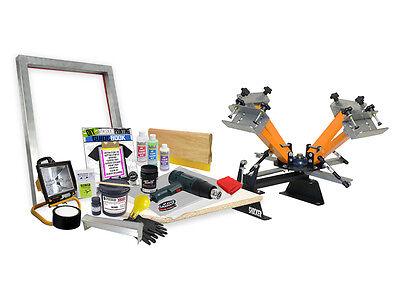 Diy Basic 4 Color Shocker Screen Printing Starter Beginner Kit - 41-2
