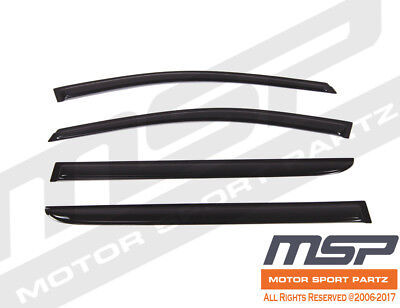 4pcs Dark Smoke Out-Channel Visor Rain Guards For Hummer H3 H3T 2006-2010