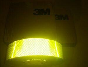 3M DIAMOND GRADE FLURO YELLOW GREEN REFLECTIVE TAPE 50MM x 10METRES