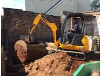 Digger , driver & grab lorry hire all groundworks undertaken